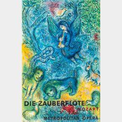 After Marc Chagall (Russian/French, 1887-1985)      Die Zauberflöte/Mozart/Metropolitan Opera