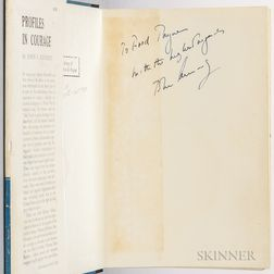 Kennedy, John Fitzgerald (1917-1963) Profiles in Courage  , Signed Presentation Copy to Maine Senator Frederick G. Payne (1904-1978)