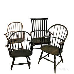 Four Windsor Armchairs