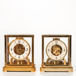 Two Jaeger LeCoultre Atmos Clocks
