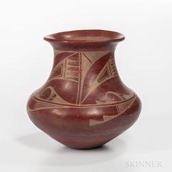 Contemporary San Ildefonso Redware Vase