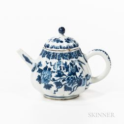 Chinese Porcelain Blue and White Teapot and Cover