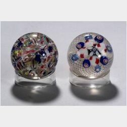 Two New England Glass Company Paperweights