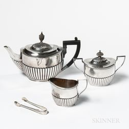 Assembled Three-piece Sterling Silver Tea Service