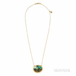 High-karat Gold and Turquoise Necklace, Gurhan