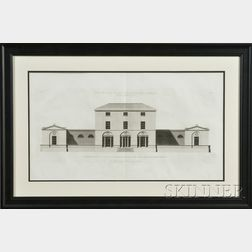 Pair of Large English Engravings of Architectural Elevations