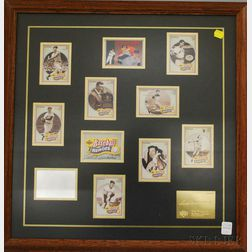 "Framed Ted Williams Autographed Set of Eleven Upper Deck, ""Baseball Heroes,""   Ted Williams Cards"
