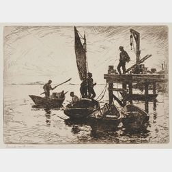 Frank Weston Benson (American, 1862-1951)      Boats at Dawn