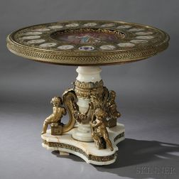 Napoleon III Sevres-style Porcelain- and Bronze-mounted Center Table