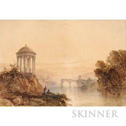 William Callow (American, 1812-1908)      Romantic Landscape
