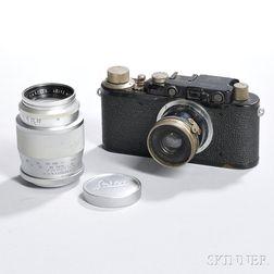 Black Leica II Model D and Lenses