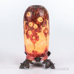 Le Verre Francais Cameo Glass Boudoir Lamp