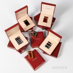 Six S.T. Dupont Lighters