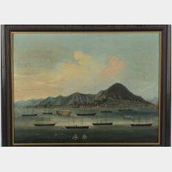 Chinese School, Mid-19th Century  Ships at Anchor in Hong Kong Harbor