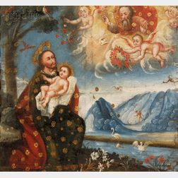 Cuzco School, 18th/19th Century      Saint with Christ Child