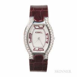 "Stainless Steel and Diamond ""Beluga Tonneau"" Wristwatch, Ebel"