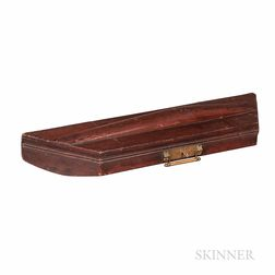 American Eastlake-style Red-painted Trapezoidal Violin Case, c. 1875