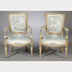 Pair of French Louis XVI Fauteuils