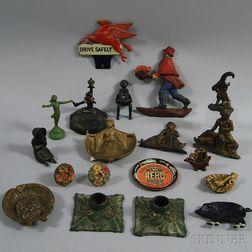 Nineteen Painted Metal Decorative Items