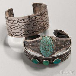 Three Navajo Silver Bracelets