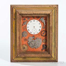 Framed Pocket Watch Parts