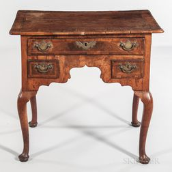 Georgian Walnut and Walnut-veneered Dressing Table