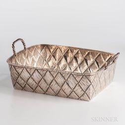 Russian .875 Silver Trompe l'Oeil Basket