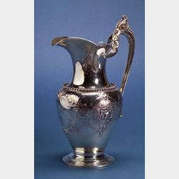American Silver Repousse Ewer