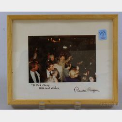 Framed Ronald Reagan Autographed Photograph.