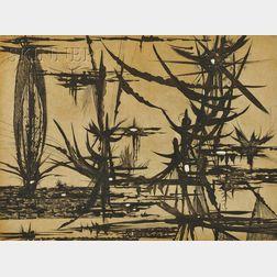 Gabor F. Peterdi (Hungarian/American, 1915-2001)      Swamp III