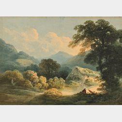 Francis Nicholson (British, 1753-1844)    Maes Mynary, near Denbigh