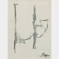 Robert Motherwell (American, 1915-1991)      Sketch for Mural
