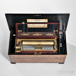 Six-air Organ Musical Box Attributed to Bremond
