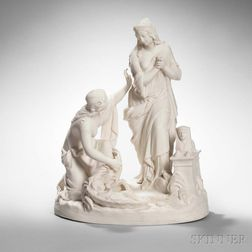 Wedgwood Carrara Depiction of the Finding of Moses