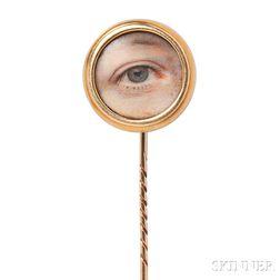 """Antique """"Lover's Eye"""" Stickpin"""