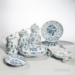 Eight Meissen Porcelain Tableware Items
