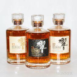 Mixed Hibiki, 3 750ml bottles (oc)