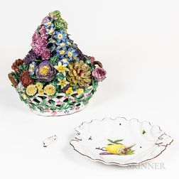 Meissen-type Floral Centerpiece and Chelsea Lemon Plate