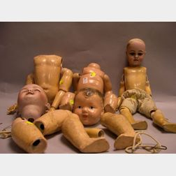 Two German Bisque Dolls and a Composition Baby