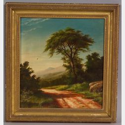 Charles Franklin Pierce (Sharon, New Hampshire 1884-1920)    Country Road with Distant Mountains.