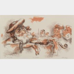 Chaim Gross (American, 1904-1991)    The Fiddler