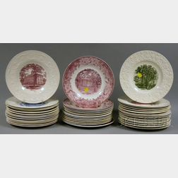 Forty-three Assorted Wedgwood University and College Ceramic Plates.