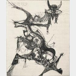 Gabor F. Peterdi (Hungarian/American, 1915-2001)      The Black Horn