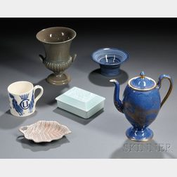 Six 20th Century Wedgwood Items