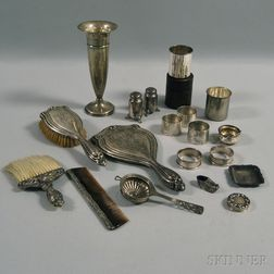Group of Sterling Silver Tableware and Dresser Items