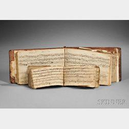 Musical Manuscripts, Massachusetts, Clarinet Tunes, Revolutionary War Era.