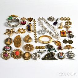 Group of Mostly Signed Costume Jewelry