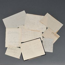 European Composers and Musicians, Late 19th and Early 20th Century, Six Signed Pieces.