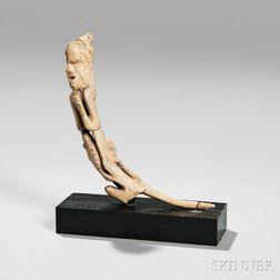 Haida Carved Bone Shaman's Pointer