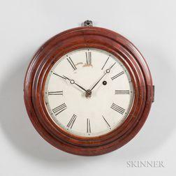 Brewster & Ingraham Mahogany Gallery Clock